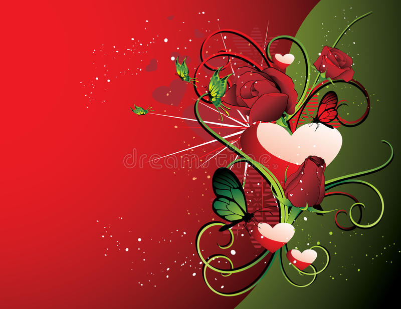 Valentin vector illustration. Valentin illustration composition over a color background vector illustration