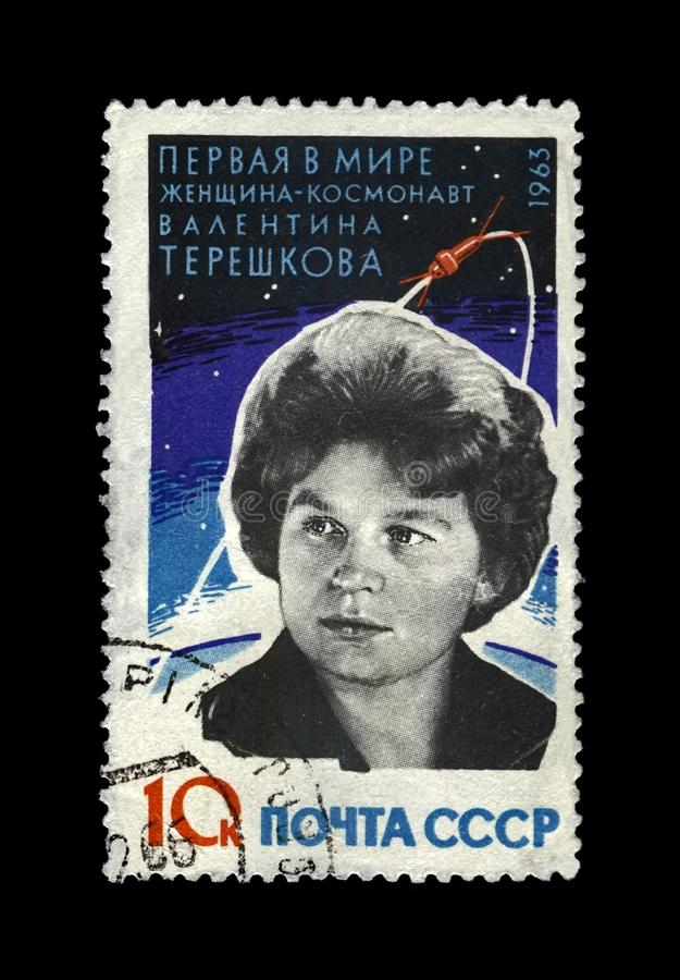 Tereshkova Valentina, soviet astronaut, 1st woman in the space, rocket shuttle, USSR, circa 1963, royalty free stock image