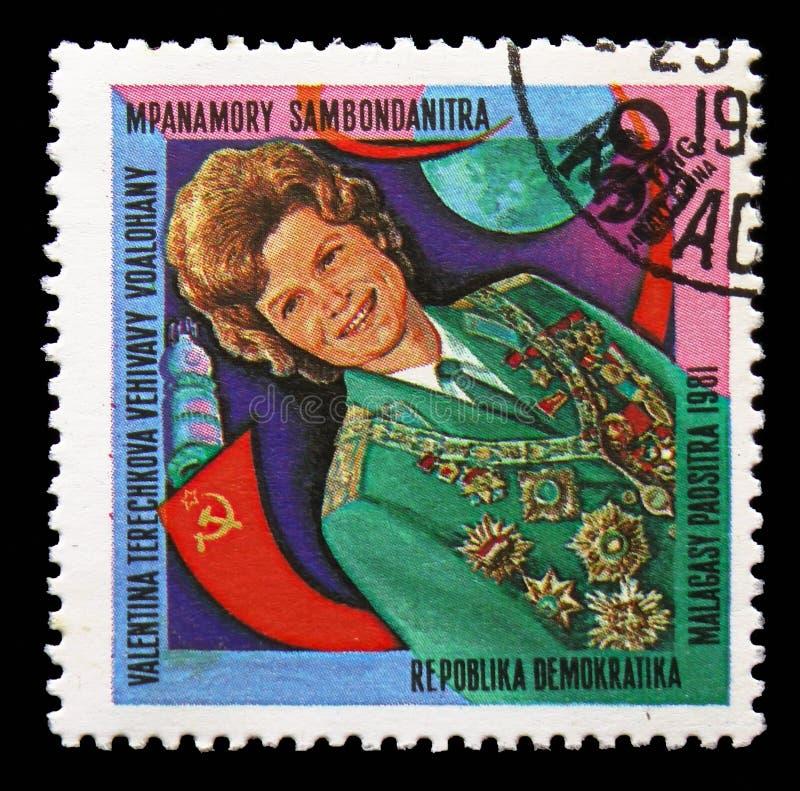 Valentina Tereshkova, Space Research serie, circa 1981 stock photos