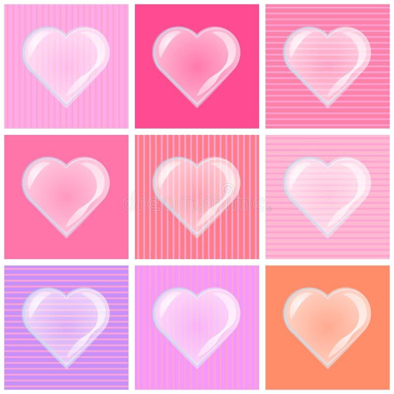 Valentinbakgrund med hjärtabubblan stock illustrationer