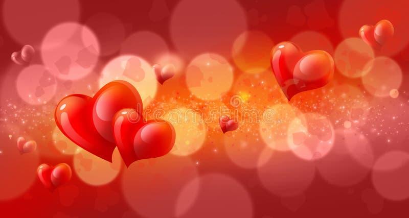 Valentinbokehbakgrund royaltyfri illustrationer