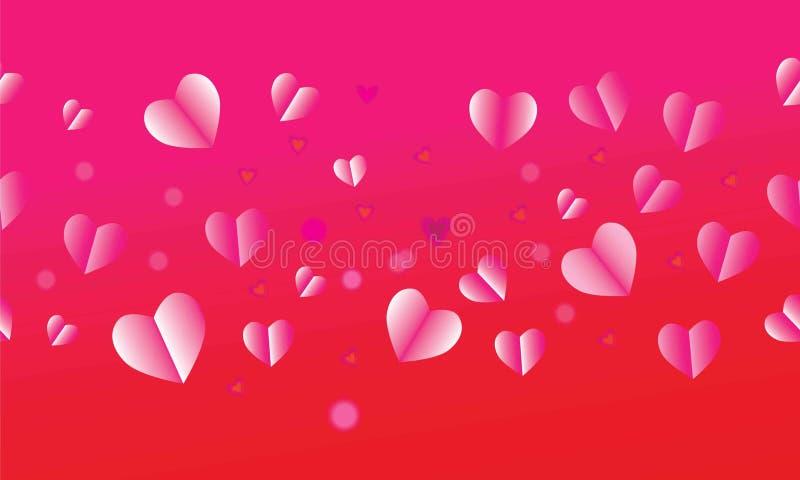 Valentindag, dag för moder` s, ferie, födelsedag, årsdag, mall för kort för bröllopdag Romantiska förälskelsesymbolrosa färger r vektor illustrationer