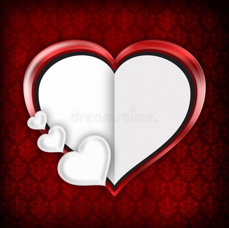 Valentindagbakgrund stock illustrationer