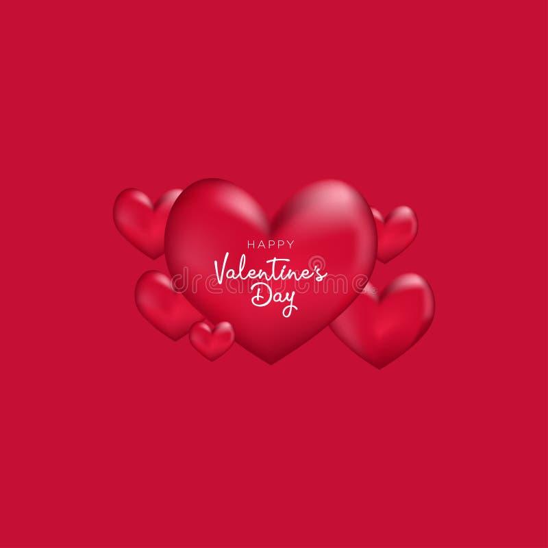Valentindagbakgrund med formad hjärta royaltyfri illustrationer
