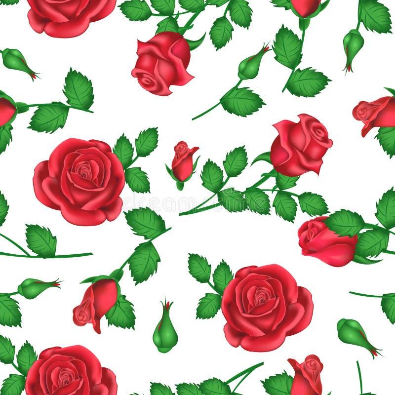 Valentindagbakgrund med rosor för garnering vektor illustrationer