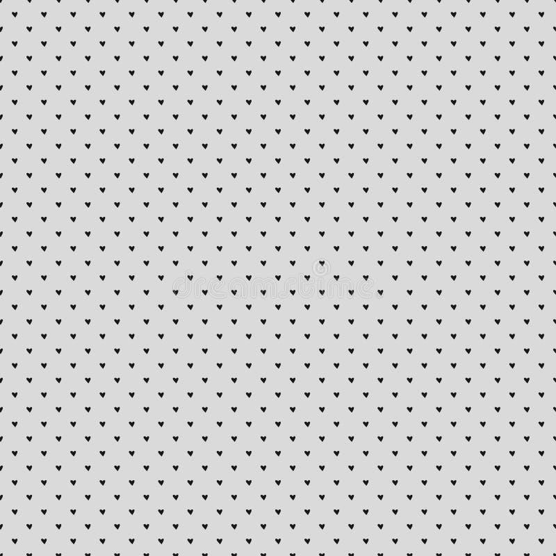 Valentindagbakgrund med texturhjärta för rengöringsdukbanret, pacagepapper, hälsningkort Geometrisk modell för sömlös tappning royaltyfri illustrationer