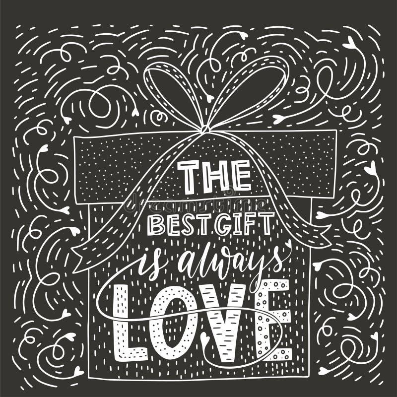 Valentindagbokstäver Handskrivet romantiskt hälsningkort stock illustrationer