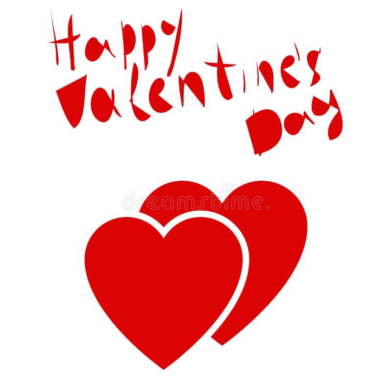 Valentindagbokstäver Hjärtor på en vit stock illustrationer