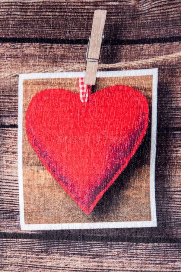 Valentindaghjärta på tyg royaltyfri foto