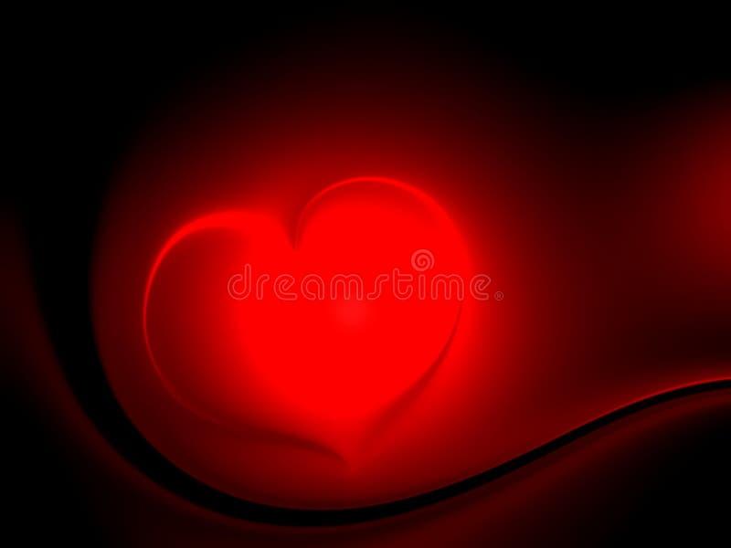 Valentindaghjärtor på röd och svart skuggad bakgrund royaltyfri bild