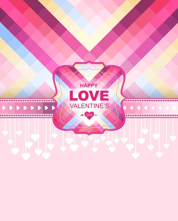 Valentindagkort och bakgrund kantlagrar låter vara vektorn för oakbandmallen royaltyfri illustrationer