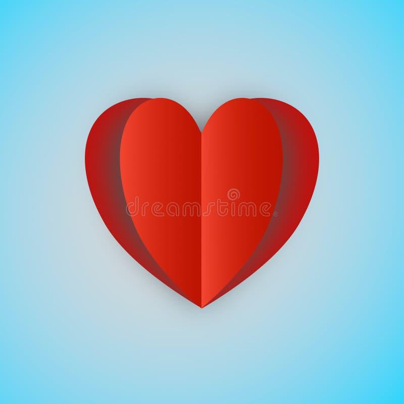 Valentine's天背景III 库存例证