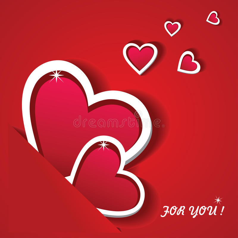 The Valentine's Day. Greeting card. vector illustration