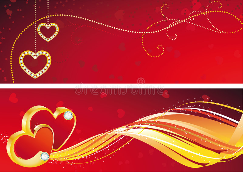 Valentine illustration stock