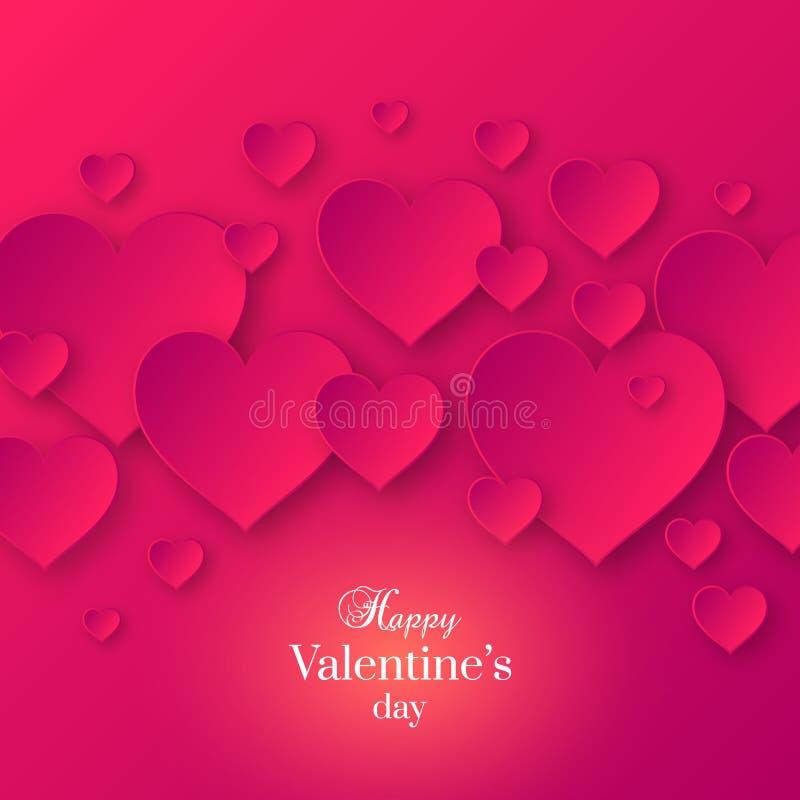 Valentine& abstrato x27; fundo da cor do rosa do dia de s ilustração do vetor