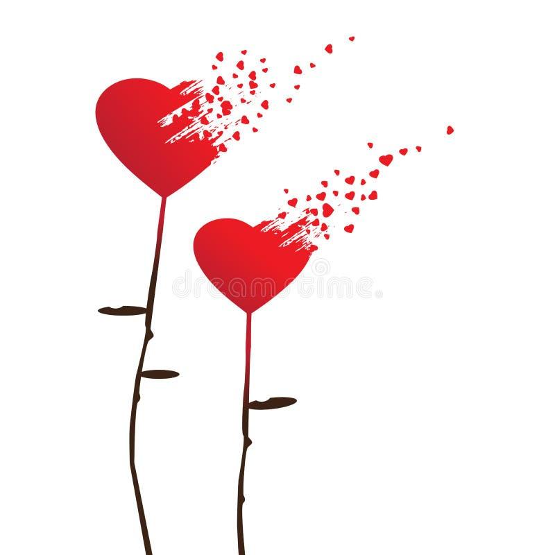 Valentine-achtergronden met abstracte harten royalty-vrije illustratie