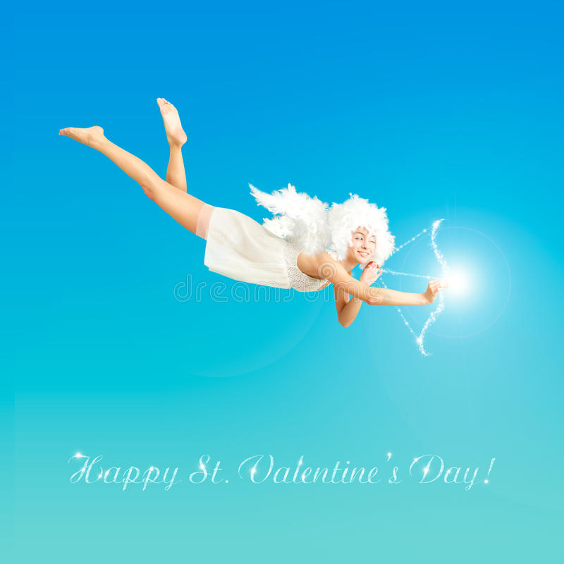 Download Valentine Angel stock photo. Image of greetingcard, copy - 22491760