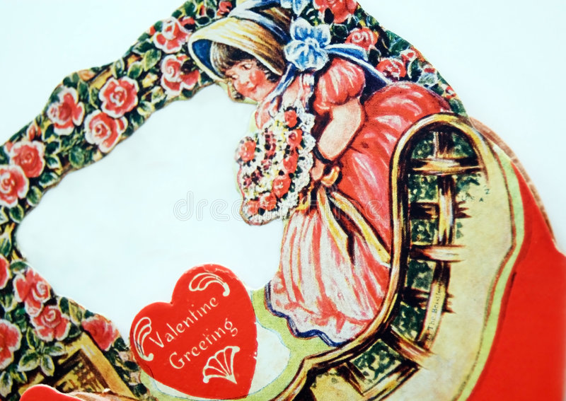 Valentine antique photo stock