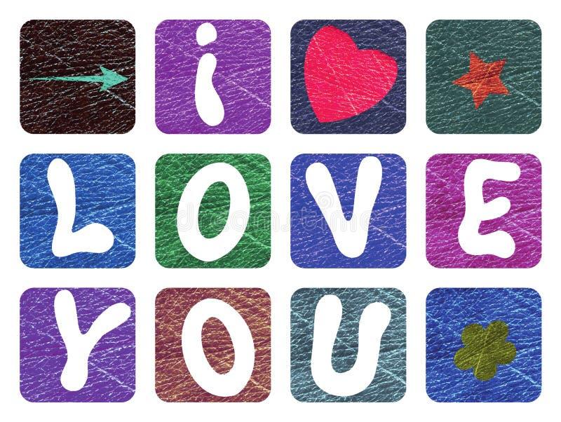 Valentine avec une déclaration de l'amour pour le ` s de St Valentine Vecteur coloré illustration stock