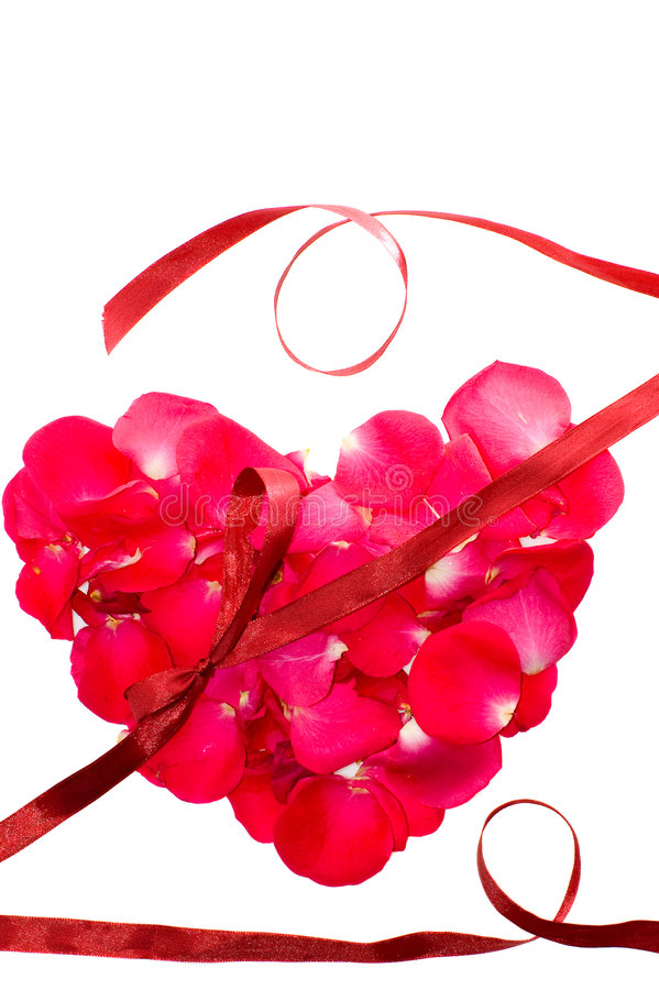 Valentine background. With rose heart stock image