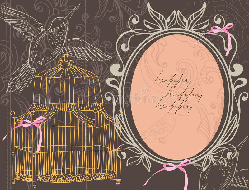 Download Valentine Background With Cage Stock Vector - Image: 23012361