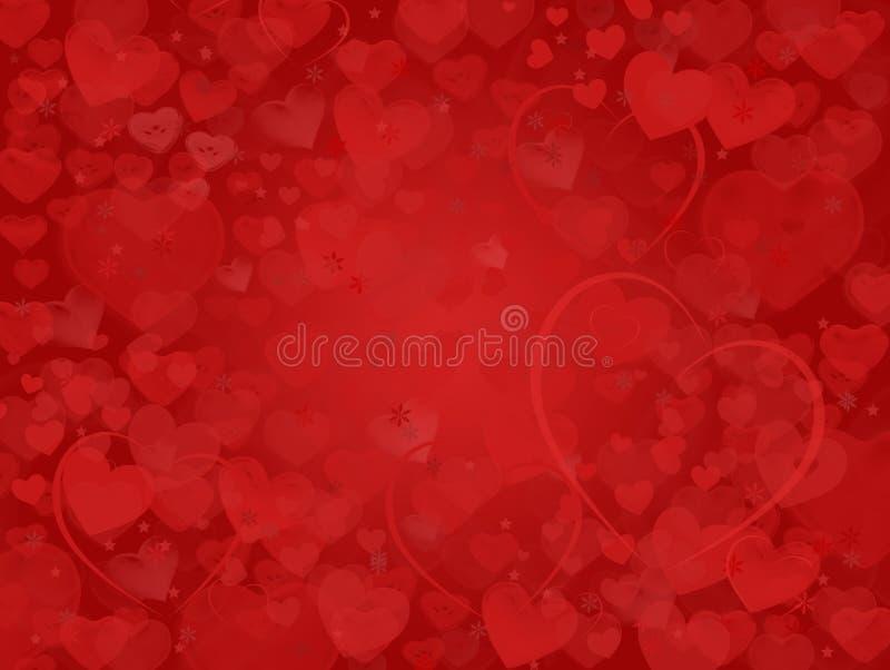 Valentine Background com quadro ideal dos corações foto de stock