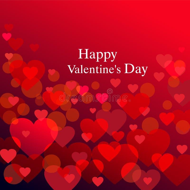 Valentine background with heart. Red valentine background with heart stock illustration