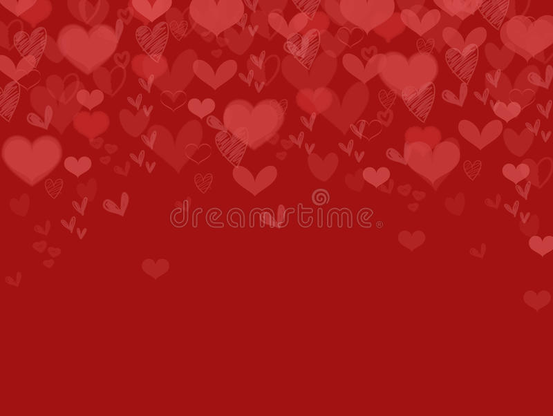 Valentine Background Heart Falling foto de stock royalty free