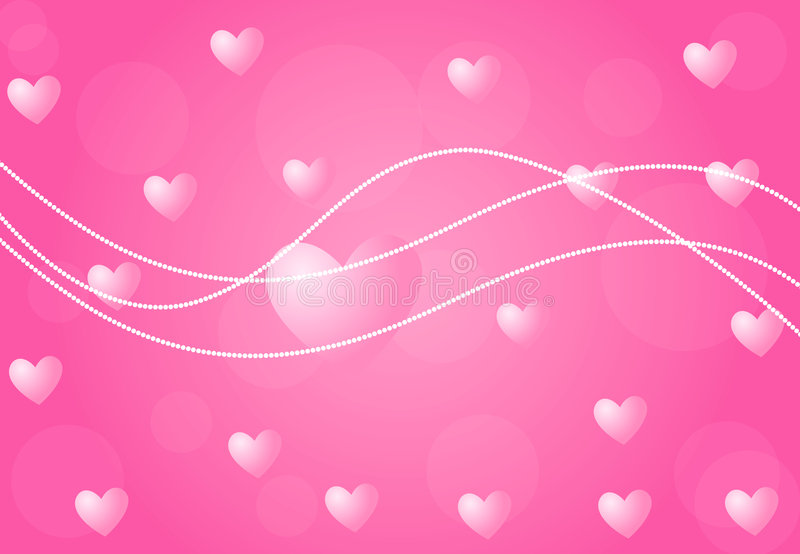Download Valentine Background With Hearts Stock Vector - Image: 5444414