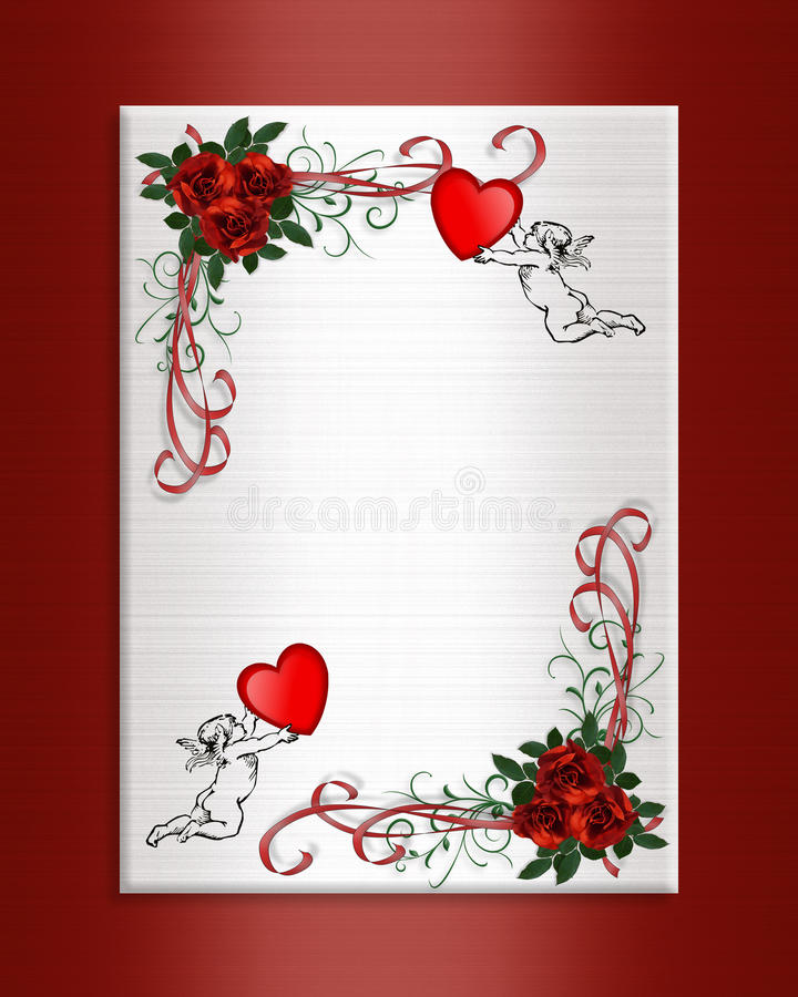 Valentine Background hearts roses royalty free stock image