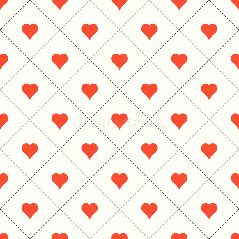 Valentine background with hearts. stock photo