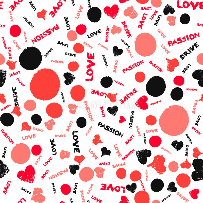 Valentine Background Painted Love Hearts royalty free illustration