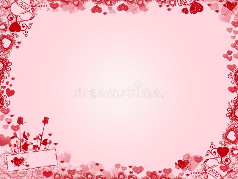 Valentine Background - quadro dos corações imagem de stock royalty free