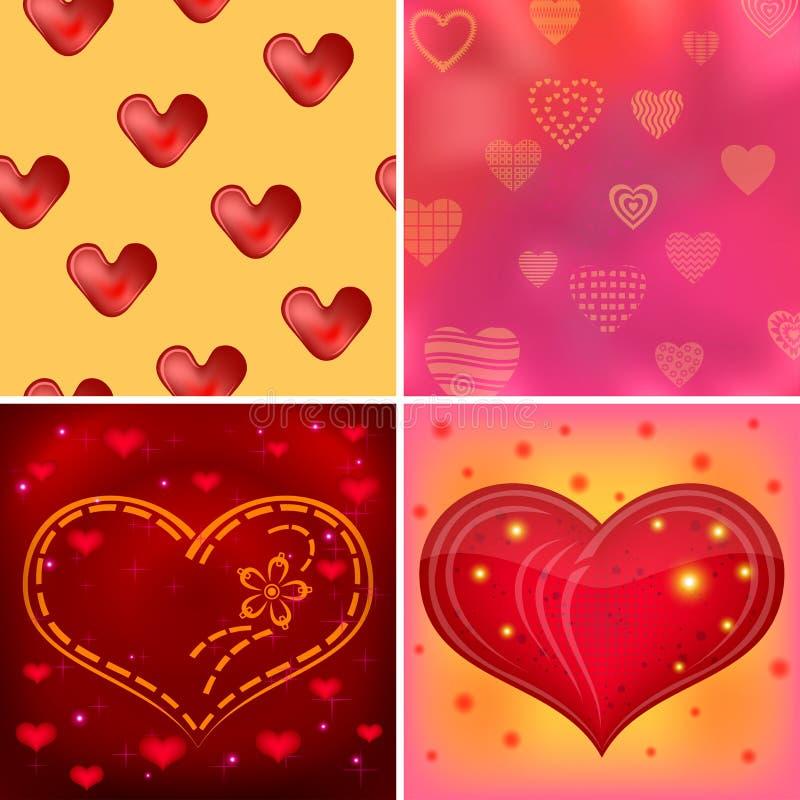 Valentine background, set royalty free illustration