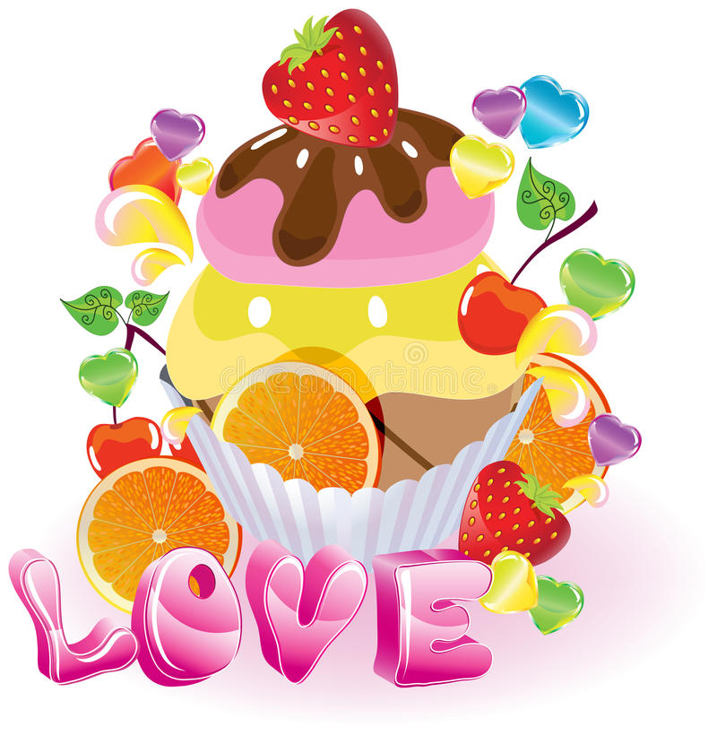 Download Valentine Background With Sweets Stock Vector - Image: 28419166
