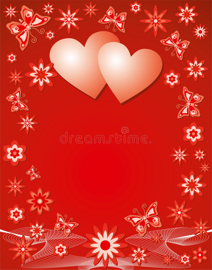Valentine background, vector stock image