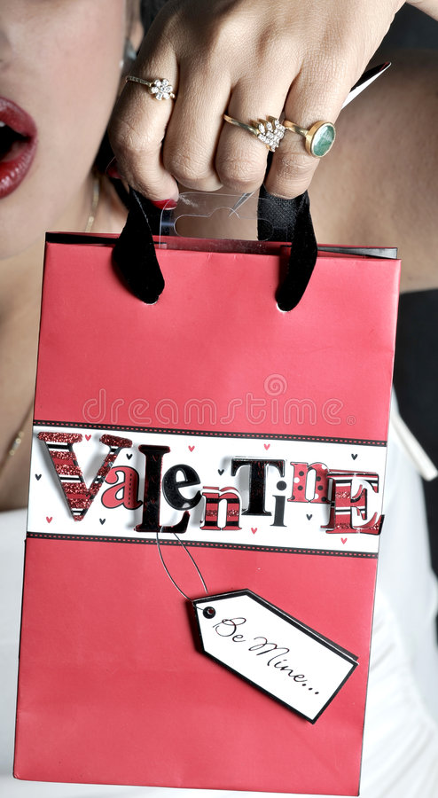Valentine bag royalty free stock images