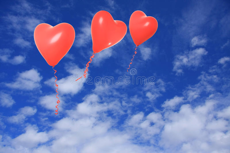 Download Valentine balloon stock photo. Image of space, three - 22824900