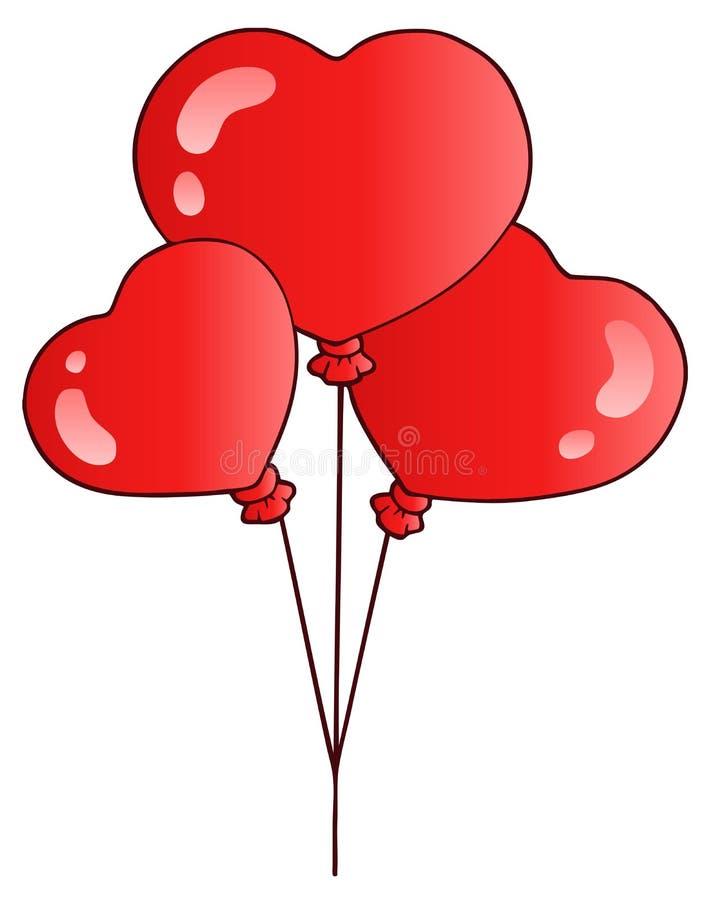 Valentine balloons stock photos