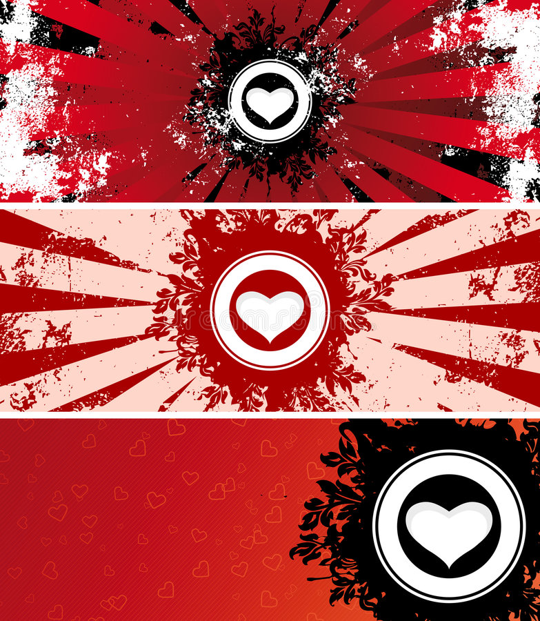 Download Valentine banners stock vector. Image of valentine, banner - 3988558