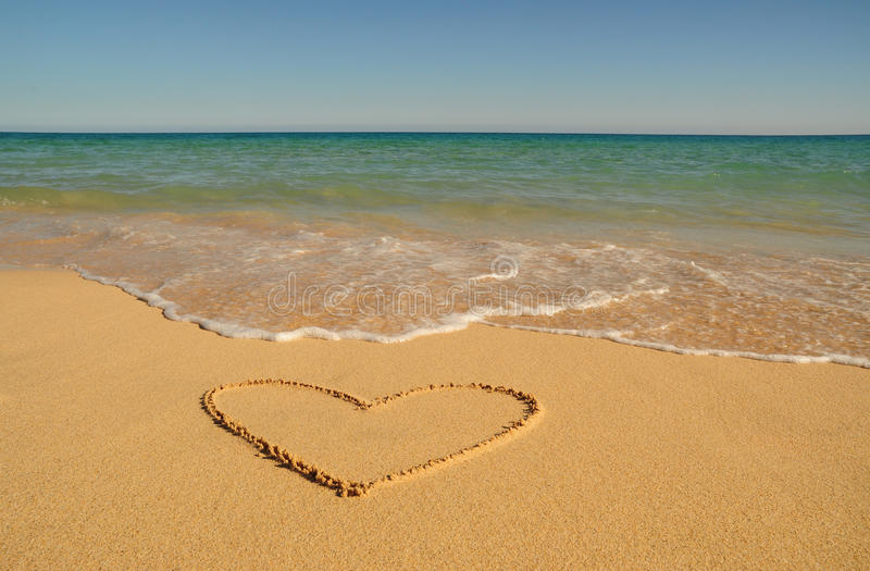 Valentine on the beach royalty free stock photography