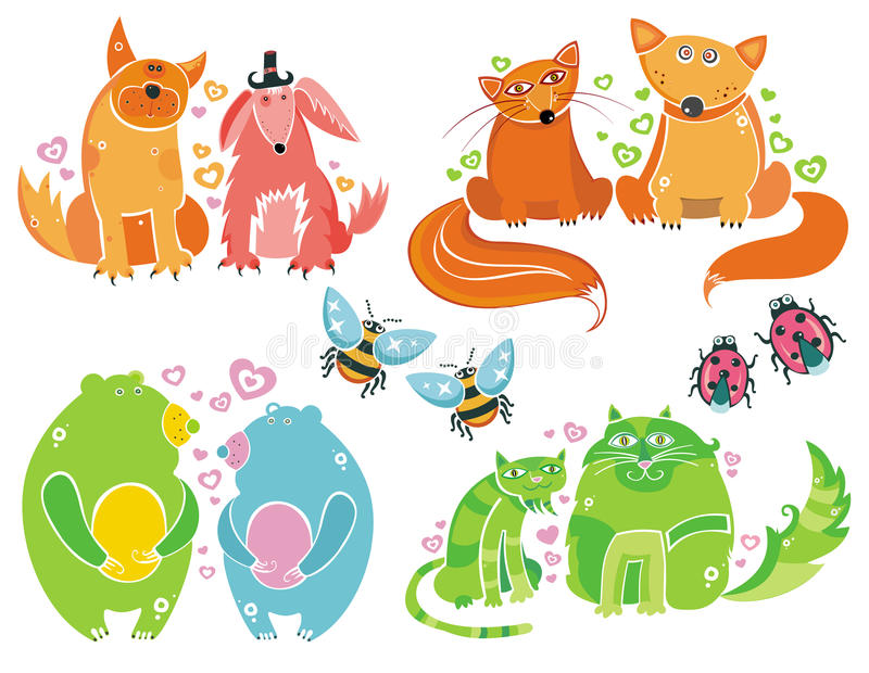 Download Valentine bears set stock vector. Image of icon, friends - 12801918