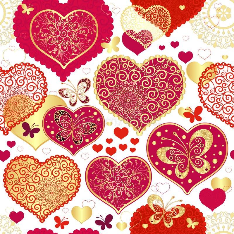 Valentine bezszwowy wzór ilustracja wektor