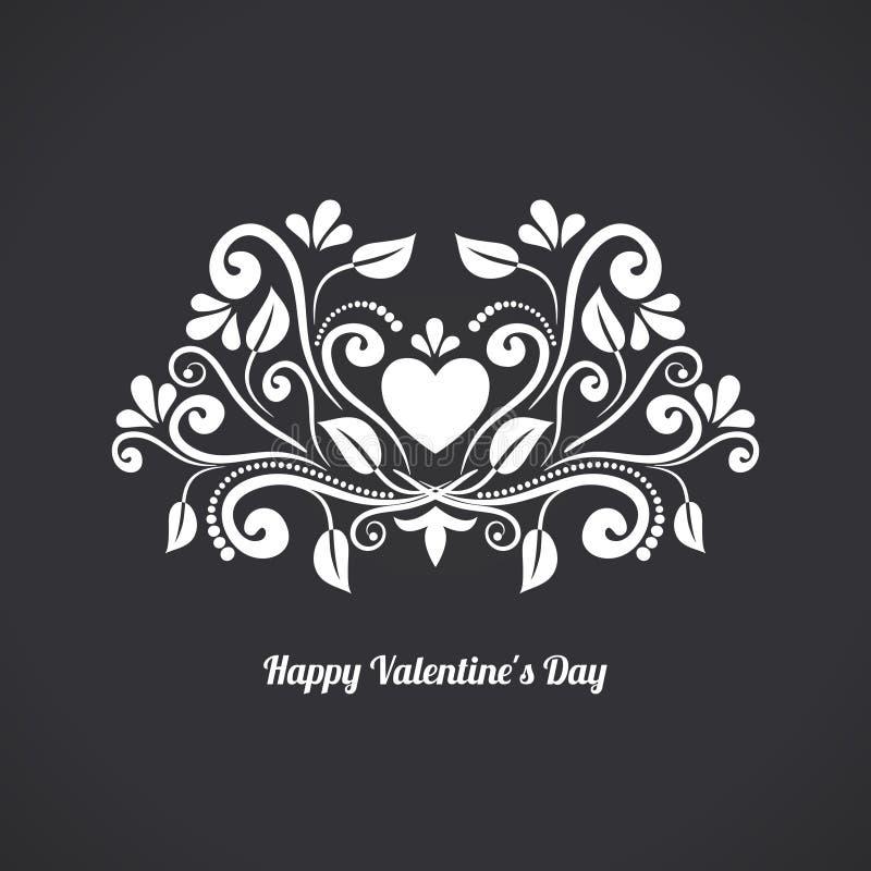 Valentine Blackboard Heart illustration libre de droits