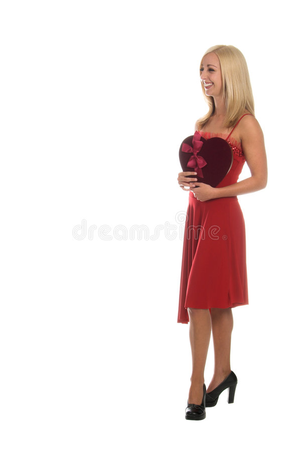 Valentine blond photos libres de droits