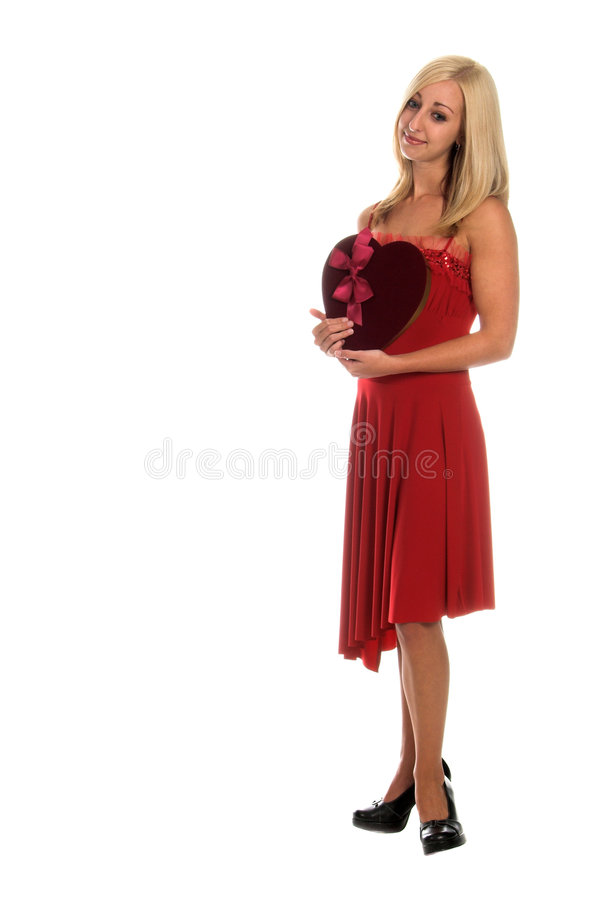 Valentine Blond royalty free stock photography