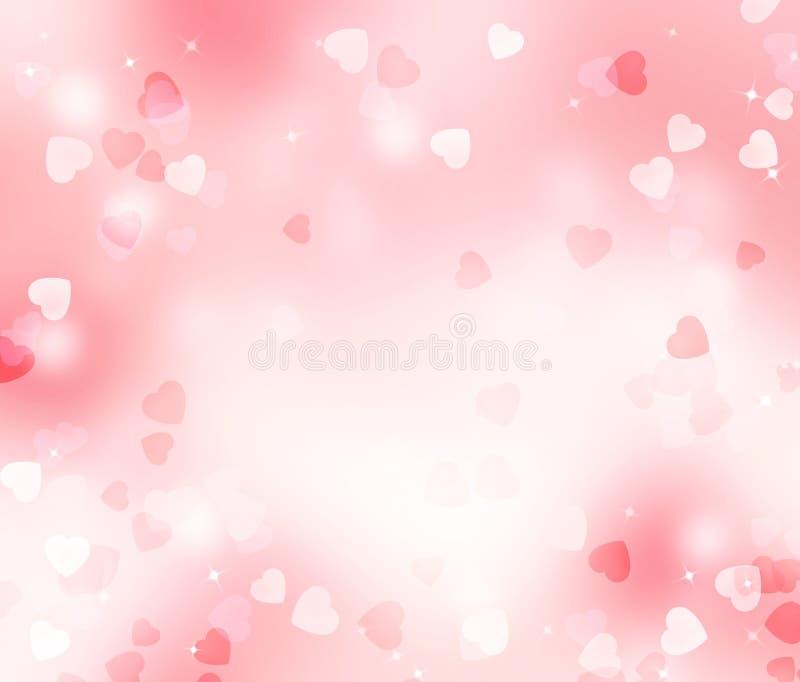 Valentine blurred hearts background royalty free illustration