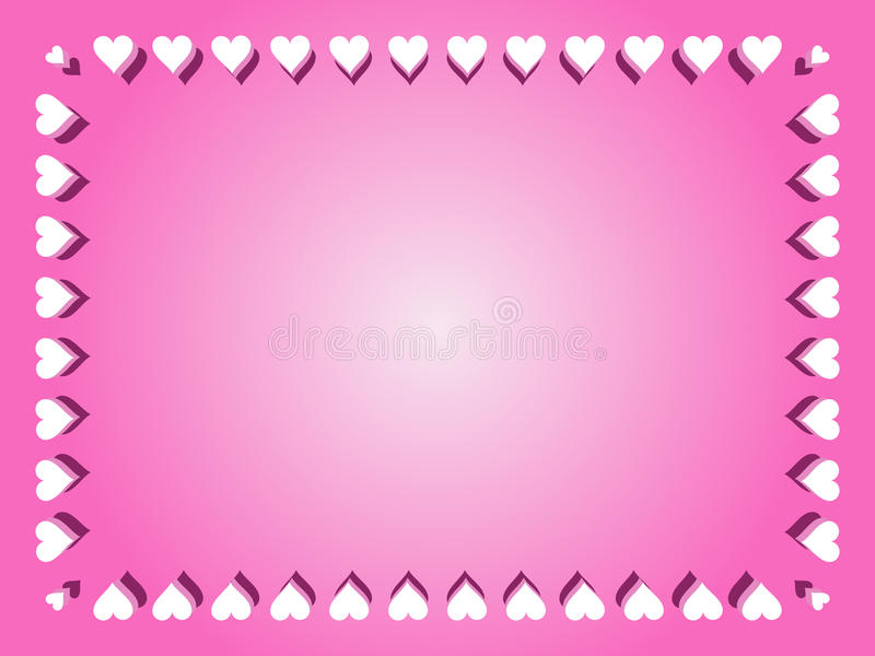 Valentine Border Background royalty illustrazione gratis
