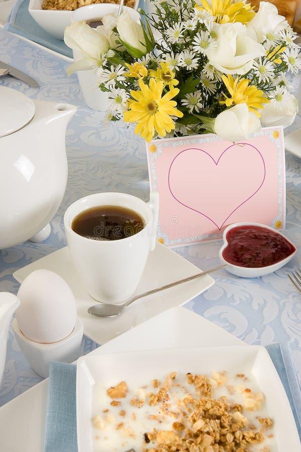 Valentine breakfast royalty free stock photo