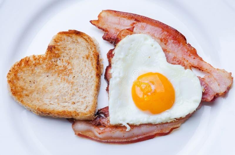 Valentine Breakfast photo libre de droits